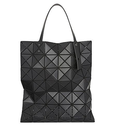 BAO BAO ISSEY MIYAKE Lucent matte A4 shopper (Matte+black
