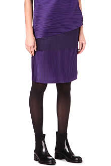 ISSEY MIYAKE Two-toned pleated pencil skirt