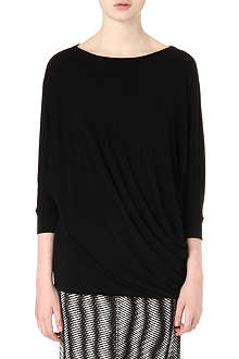 ISSEY MIYAKE Long-sleeved jersey twist top