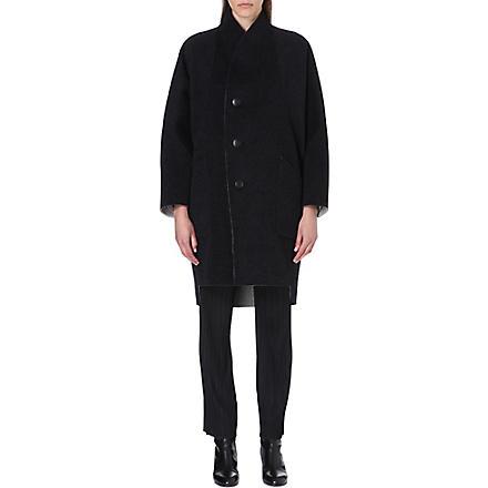 ISSEY MIYAKE Reversible wool-blend coat (Grey/dark grey