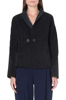 ISSEY MIYAKE Structured short suede jacket