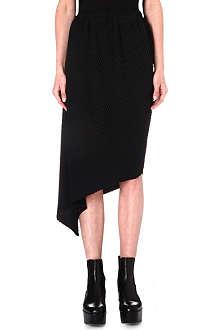 ISSEY MIYAKE Asymmetric pleated skirt