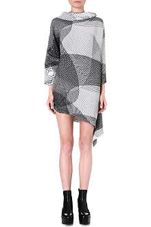ISSEY MIYAKE Pleated long-sleeved dress