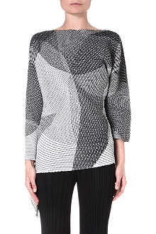 ISSEY MIYAKE Pleated long-sleeved top