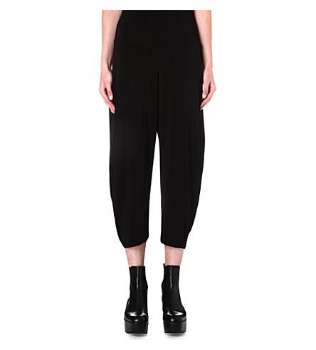 ISSEY MIYAKE Draped hareem trousers (Black