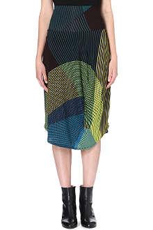 ISSEY MIYAKE Striped panel jersey skirt