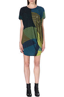 ISSEY MIYAKE Striped panel jersey dress