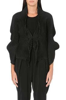 ISSEY MIYAKE Pleated textile placket jacket