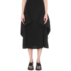Wraparound pleated skirt