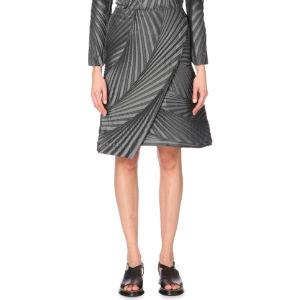 Palm pleated skirt