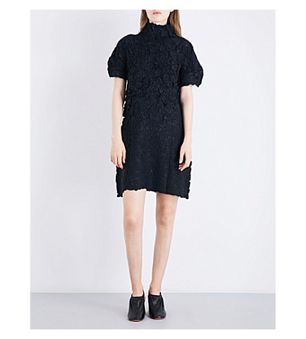 ISSEY MIYAKE Thunder textured twill dress (Black