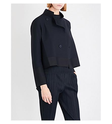ISSEY MIYAKE Cosmic pleated coat (Black