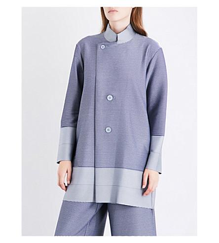 ISSEY MIYAKE Cosmic pleated coat (Gray