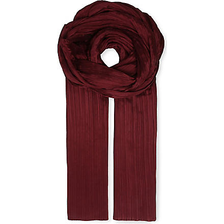 PLEATS PLEASE ISSEY MIYAKE Pleated scarf (Bordeax