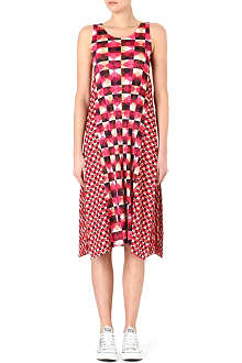 PLEATS PLEASE ISSEY MIYAKE Pleated check-print maxi dress