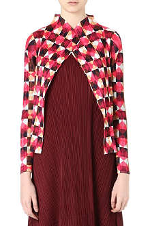 PLEATS PLEASE ISSEY MIYAKE Check-print pleated jacket