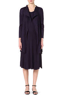 PLEATS PLEASE ISSEY MIYAKE Draped lapel coat
