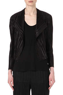 PLEATS PLEASE ISSEY MIYAKE Cropped draped pleated jacket