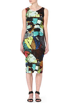 PLEATS PLEASE ISSEY MIYAKE Mineral-print pleated dress