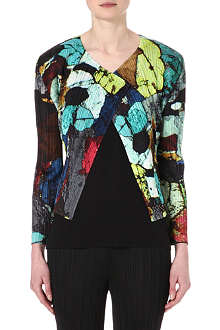 PLEATS PLEASE ISSEY MIYAKE Mineral-print pleated jacket