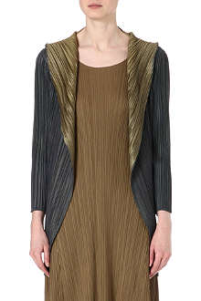 PLEATS PLEASE ISSEY MIYAKE Shawl-collar pleated coat