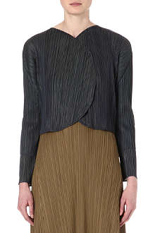 PLEATS PLEASE ISSEY MIYAKE Cropped pleated jacket
