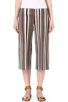 PLEATS PLEASE ISSEY MIYAKE Striped wide-leg trousers