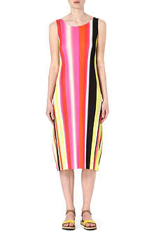 PLEATS PLEASE ISSEY MIYAKE Striped pleated dress