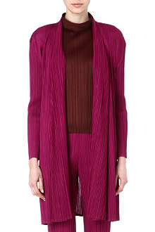 PLEATS PLEASE ISSEY MIYAKE Pleated draped coat