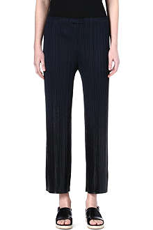 PLEATS PLEASE ISSEY MIYAKE Slim regular-fit pleated trousers