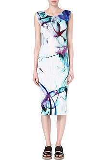 PLEATS PLEASE ISSEY MIYAKE Marble print dress