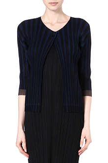 PLEATS PLEASE ISSEY MIYAKE Striped pleated jacket
