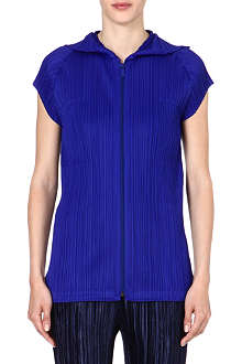 PLEATS PLEASE ISSEY MIYAKE Pleated zip-through jacket