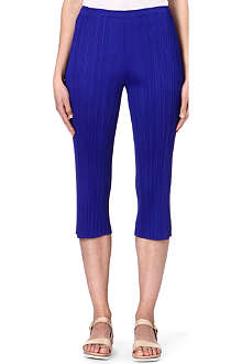 PLEATS PLEASE ISSEY MIYAKE Slim cropped pleated trousers