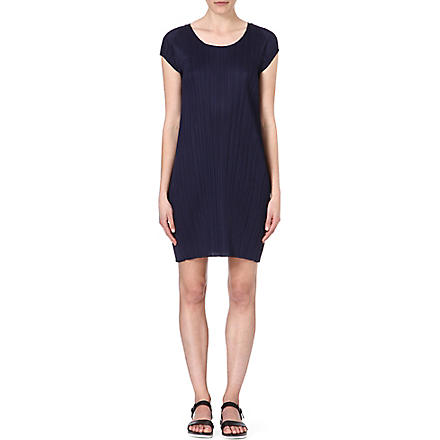 PLEATS PLEASE ISSEY MIYAKE Pleated shift dress (Navy