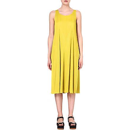 PLEATS PLEASE ISSEY MIYAKE Pleated jersey dress (Yellow