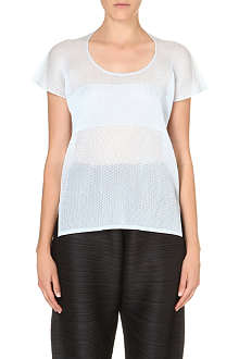 PLEATS PLEASE ISSEY MIYAKE Woven mesh t-shirt