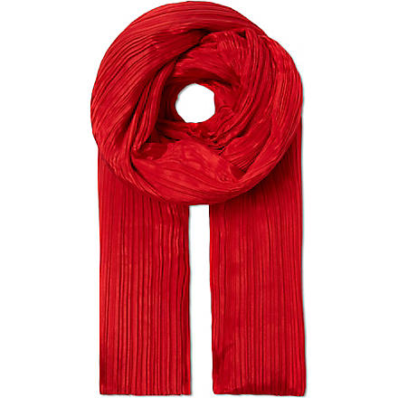 PLEATS PLEASE ISSEY MIYAKE Madame pleated scarf (Red