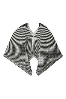 PLEATS PLEASE ISSEY MIYAKE Madame pleated striped scarf