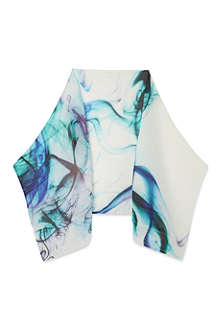 PLEATS PLEASE ISSEY MIYAKE Marble print pleated Madame scarf