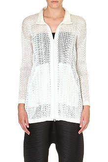 PLEATS PLEASE ISSEY MIYAKE Mesh zip up jacket