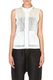 PLEATS PLEASE ISSEY MIYAKE Mesh sleeveless jacket