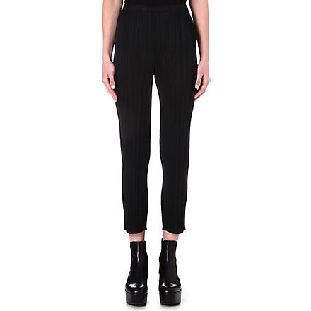 PLEATS PLEASE ISSEY MIYAKE Slim-fit pleated trousers (Black
