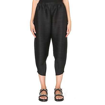 PLEATS PLEASE ISSEY MIYAKE Pleated harem trousers (Black
