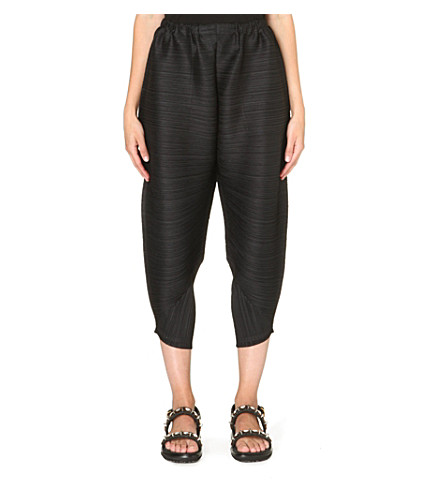 PLEATS PLEASE ISSEY MIYAKE Pleated harem trousers (Black