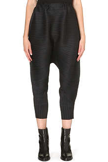 PLEATS PLEASE ISSEY MIYAKE Pleated long harem trousers