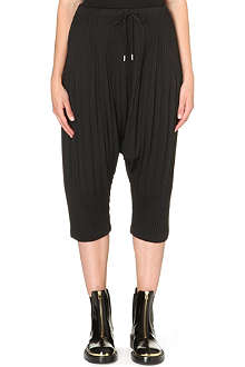 PLEATS PLEASE ISSEY MIYAKE Pleated drawstring harem trousers