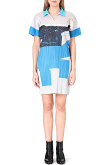 PLEATS PLEASE ISSEY MIYAKE Joy Elephant pleated polo dress