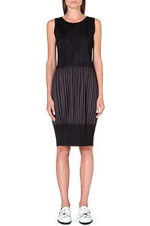 PLEATS PLEASE ISSEY MIYAKE Contrast pleated dress