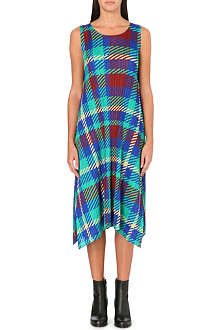 PLEATS PLEASE ISSEY MIYAKE Tartan-print pleated dress